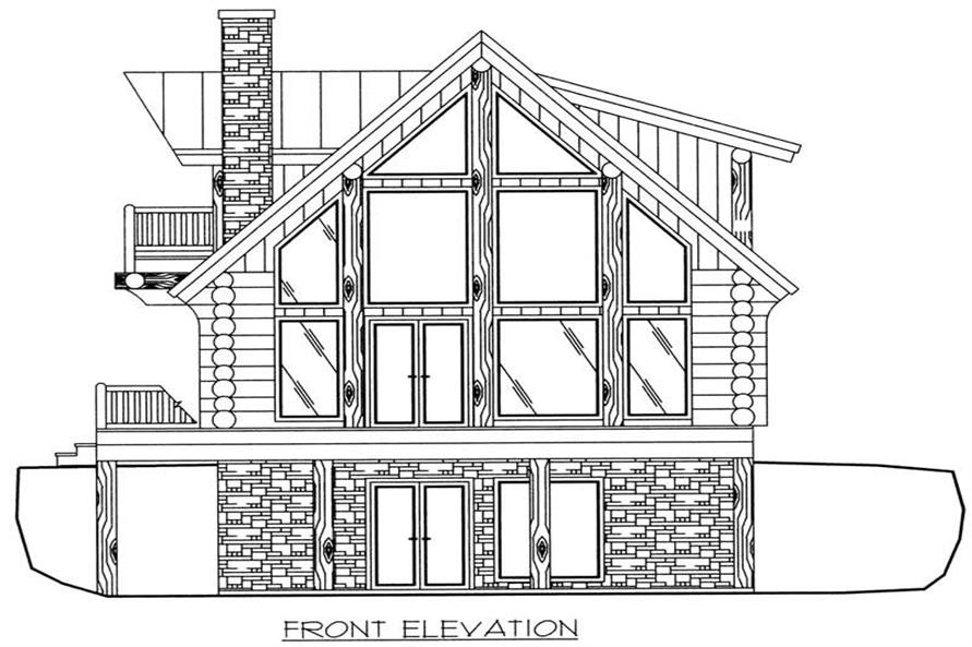 Home Plan Front Elevation of this 3-Bedroom,2057 Sq Ft Plan -132-1401