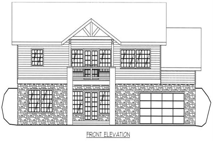 Home Plan Front Elevation of this 3-Bedroom,3164 Sq Ft Plan -132-1402
