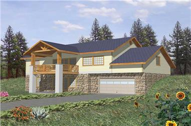 3-Bedroom, 3164 Sq Ft Country Home Plan - 132-1402 - Main Exterior