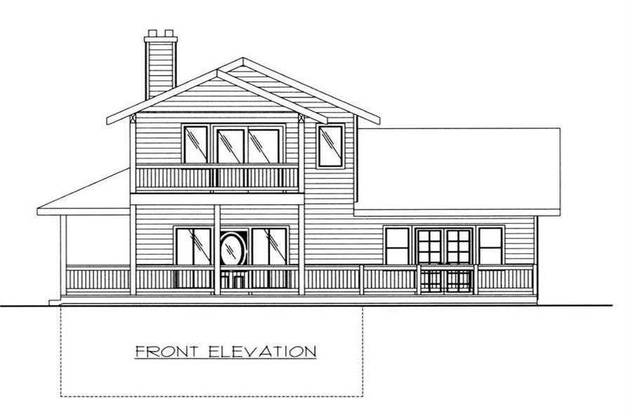 Home Plan Front Elevation of this 2-Bedroom,1526 Sq Ft Plan -132-1405