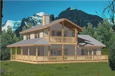 2-Bedroom, 1526 Sq Ft Vacation Home Plan - 132-1405 - Main Exterior