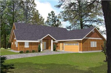 3-Bedroom, 2477 Sq Ft Country House Plan - 132-1410 - Front Exterior