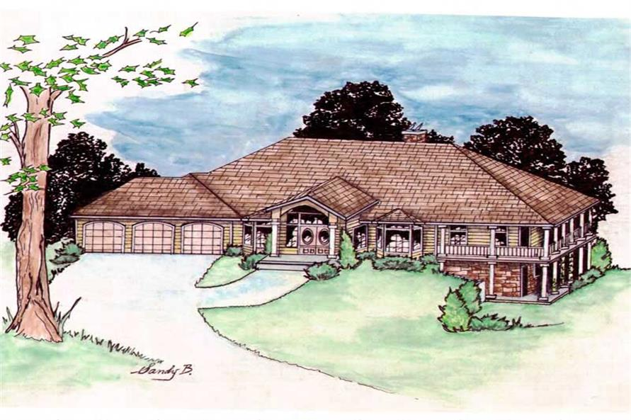 2-Bedroom, 3609 Sq Ft Contemporary Home Plan - 132-1413 - Main Exterior