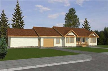 3-Bedroom, 1994 Sq Ft Country Home Plan - 132-1414 - Main Exterior