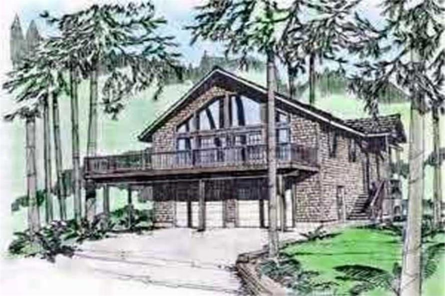 3-Bedroom, 1774 Sq Ft Coastal Home Plan - 132-1415 - Main Exterior
