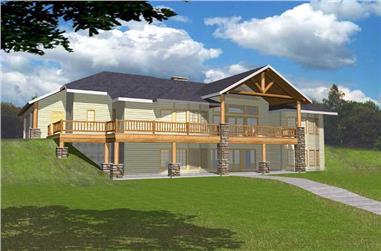 4-Bedroom, 2660 Sq Ft Home Plan - 132-1416 - Main Exterior