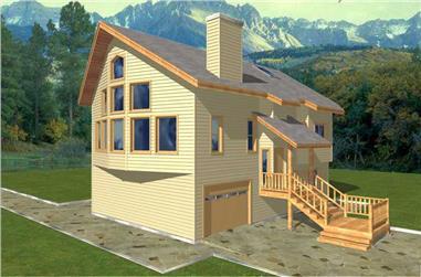 3-Bedroom, 2130 Sq Ft Coastal Home Plan - 132-1417 - Main Exterior
