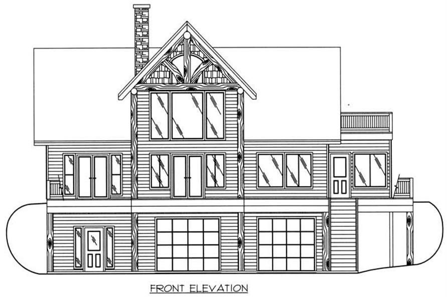Home Plan Front Elevation of this 3-Bedroom,2272 Sq Ft Plan -132-1418
