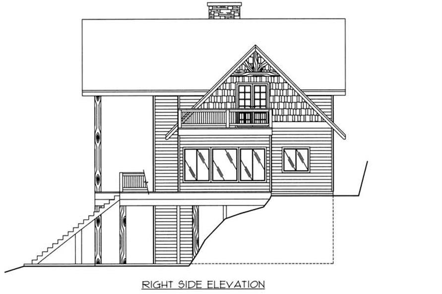 Home Plan Right Elevation of this 3-Bedroom,2272 Sq Ft Plan -132-1418