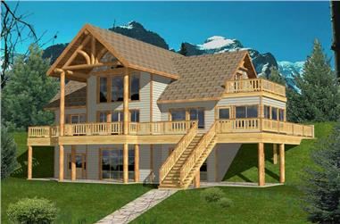 3-Bedroom, 2272 Sq Ft Contemporary Home Plan - 132-1418 - Main Exterior