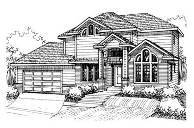 3-Bedroom, 1995 Sq Ft Contemporary Home Plan - 132-1420 - Main Exterior