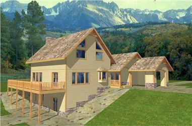 2-Bedroom, 2161 Sq Ft Coastal Home Plan - 132-1423 - Main Exterior