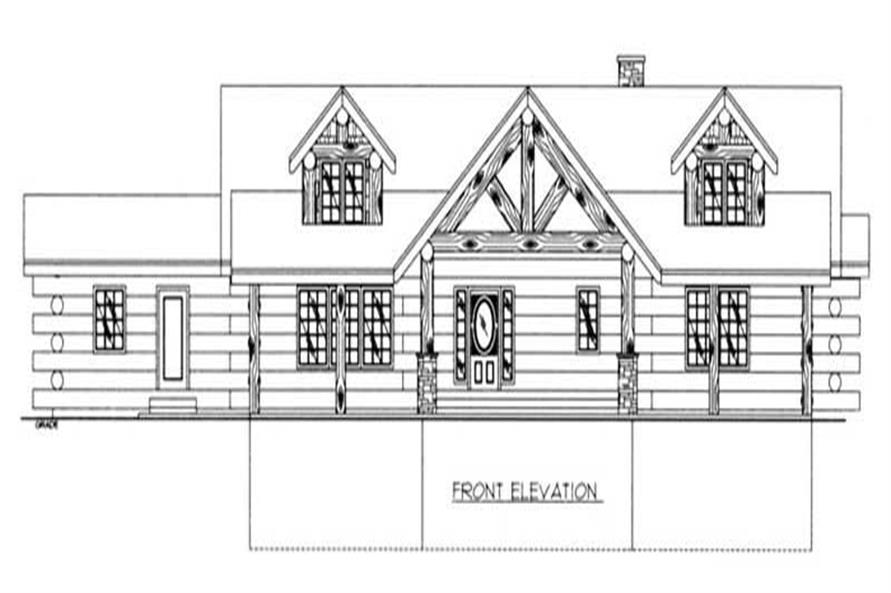 Home Plan Front Elevation of this 4-Bedroom,6626 Sq Ft Plan -132-1426
