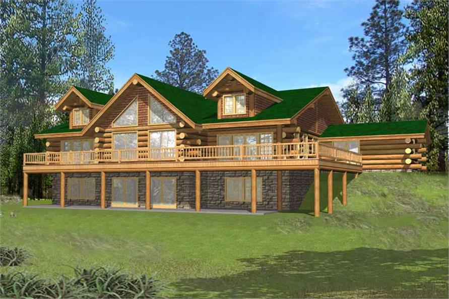 Log homeplans log home design ghd 1068 15638 for 5 bedroom log home floor plans