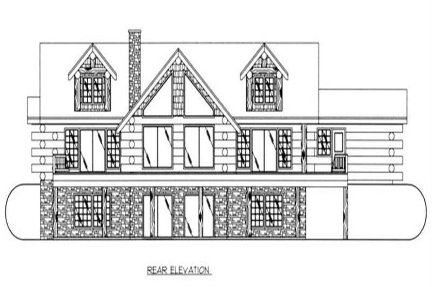 Home Plan Rear Elevation of this 4-Bedroom,6626 Sq Ft Plan -132-1426