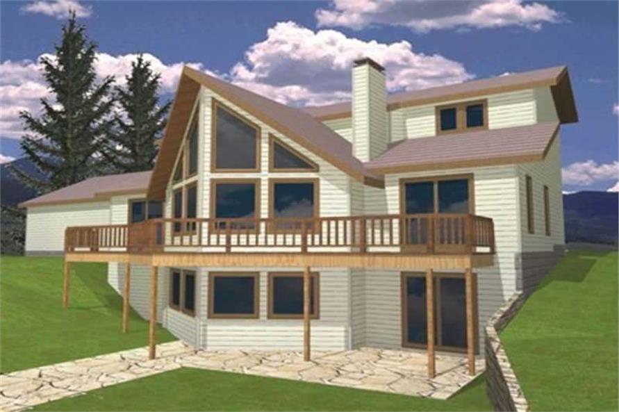 3-Bedroom, 2008 Sq Ft Coastal Home Plan - 132-1428 - Main Exterior