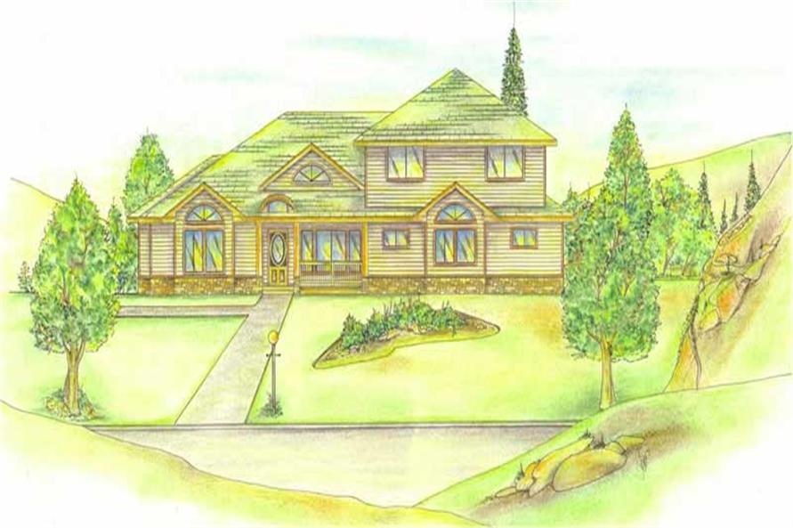4-Bedroom, 3418 Sq Ft Contemporary Home Plan - 132-1429 - Main Exterior