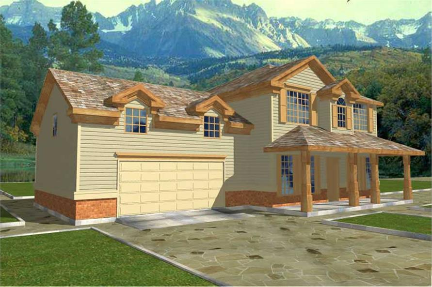 3-Bedroom, 1694 Sq Ft Country Home Plan - 132-1430 - Main Exterior