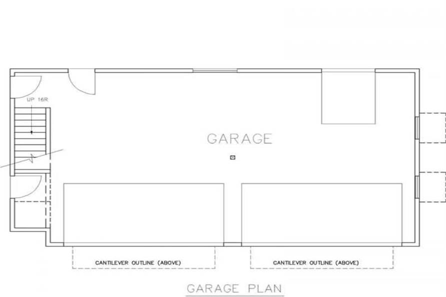 Home Plan Aux Image of this 3-Bedroom,1075 Sq Ft Plan -132-1434