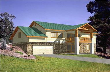 3-Bedroom, 3164 Sq Ft Home Plan - 132-1437 - Main Exterior