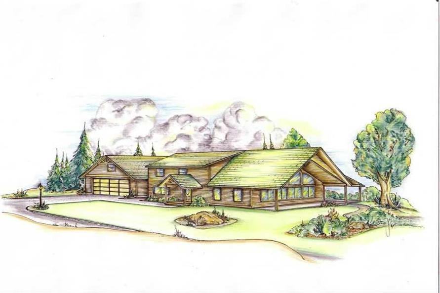 3-Bedroom, 1769 Sq Ft Vacation Homes House Plan - 132-1441 - Front Exterior