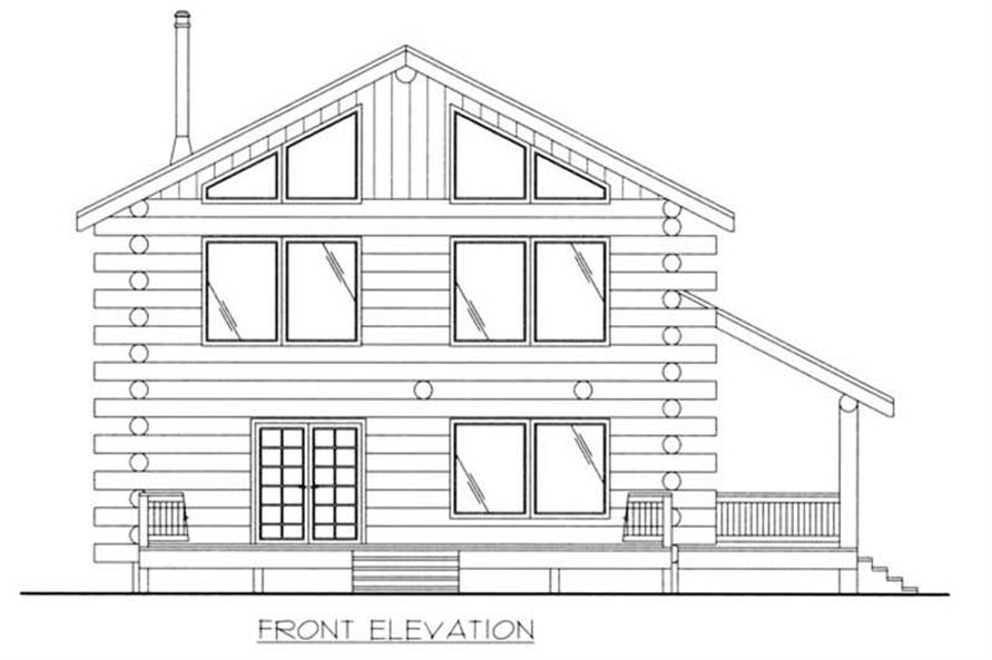 Home Plan Front Elevation of this 2-Bedroom,1830 Sq Ft Plan -132-1447