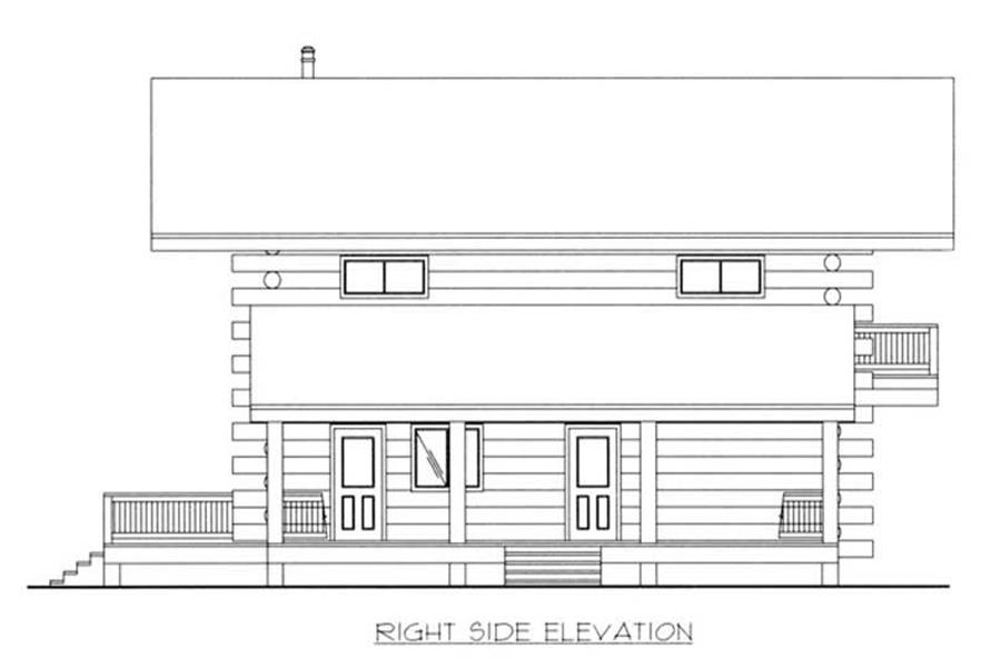Home Plan Right Elevation of this 2-Bedroom,1830 Sq Ft Plan -132-1447