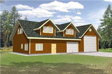 2920 Sq Ft Garage Plan - 132-1448 - Front Exterior