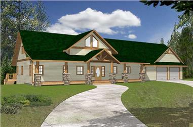 3-Bedroom, 2281 Sq Ft Southern Home Plan - 132-1452 - Main Exterior