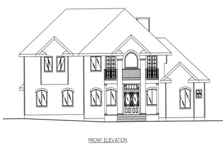 Home Plan Front Elevation of this 3-Bedroom,3952 Sq Ft Plan -132-1453