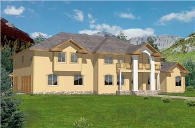 3-Bedroom, 3952 Sq Ft Contemporary Home Plan - 132-1453 - Main Exterior