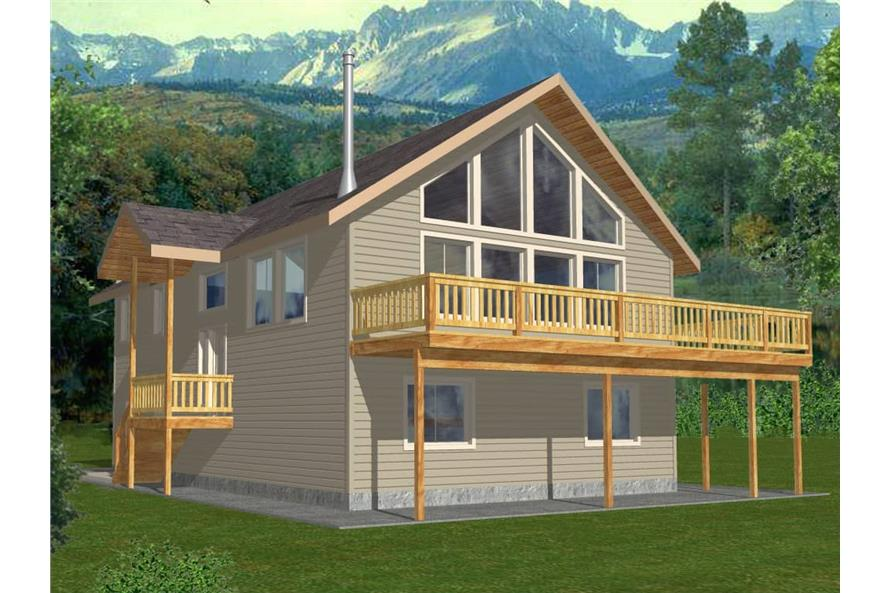 3-Bedroom, 1232 Sq Ft Vacation Homes House Plan - 132-1454 - Front Exterior