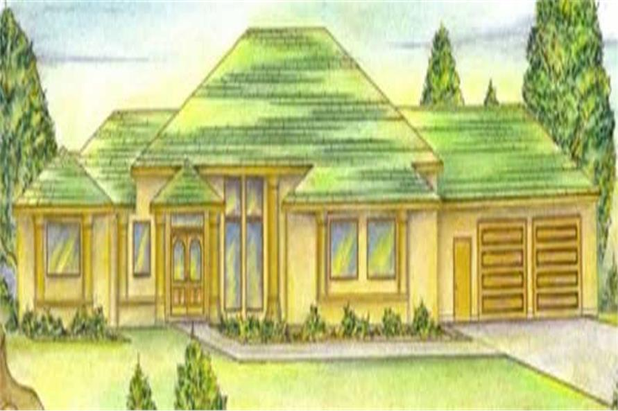 3-Bedroom, 2778 Sq Ft Concrete Block/ ICF Design House Plan - 132-1455 - Front Exterior