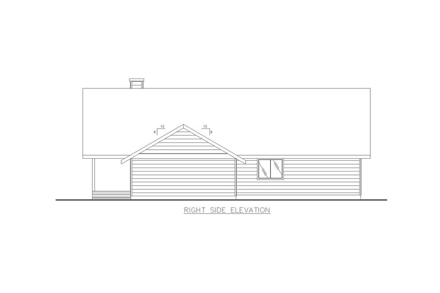 Home Plan Right Elevation of this 2-Bedroom,1600 Sq Ft Plan -132-1456