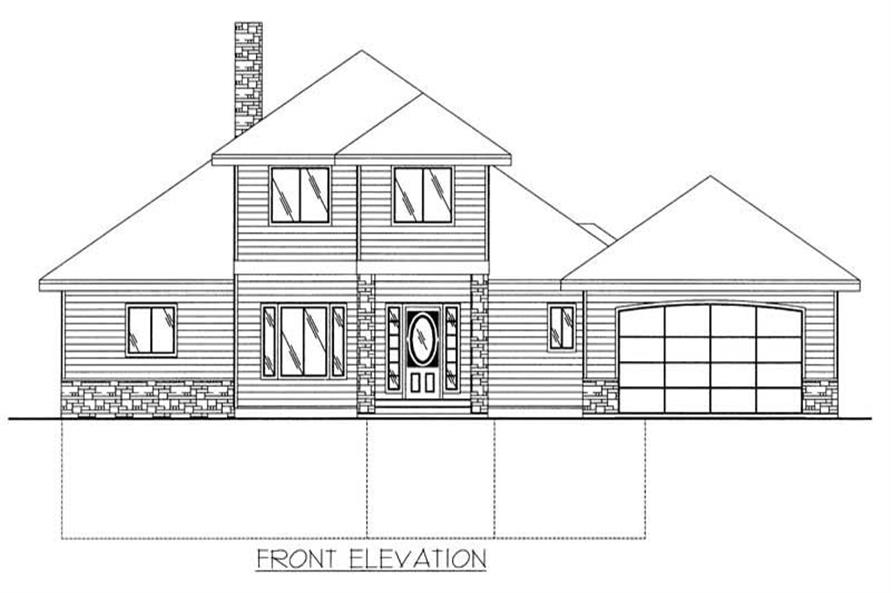 Home Plan Front Elevation of this 1-Bedroom,2776 Sq Ft Plan -132-1457