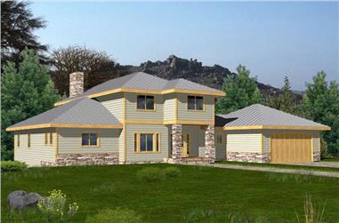 1-Bedroom, 2776 Sq Ft Southern Home Plan - 132-1457 - Main Exterior