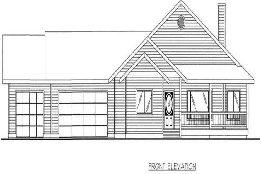 Home Plan Front Elevation of this 3-Bedroom,1739 Sq Ft Plan -132-1458