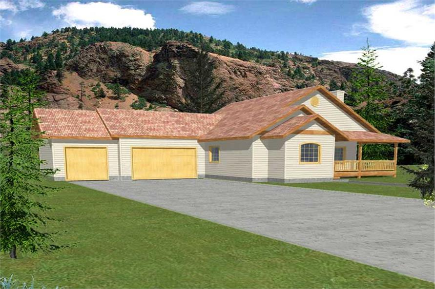 3-Bedroom, 1739 Sq Ft Ranch Home Plan - 132-1458 - Main Exterior