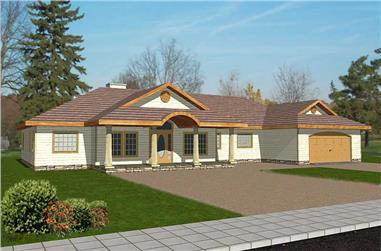 3-Bedroom, 2646 Sq Ft Contemporary Home Plan - 132-1461 - Main Exterior