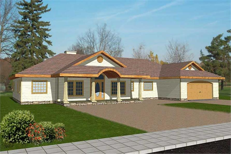Main image for house plan # 8836