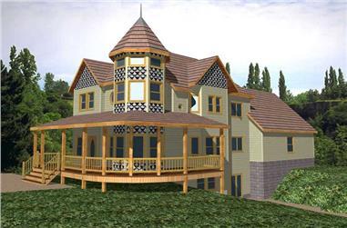 3-Bedroom, 3306 Sq Ft Victorian Home Plan - 132-1469 - Main Exterior