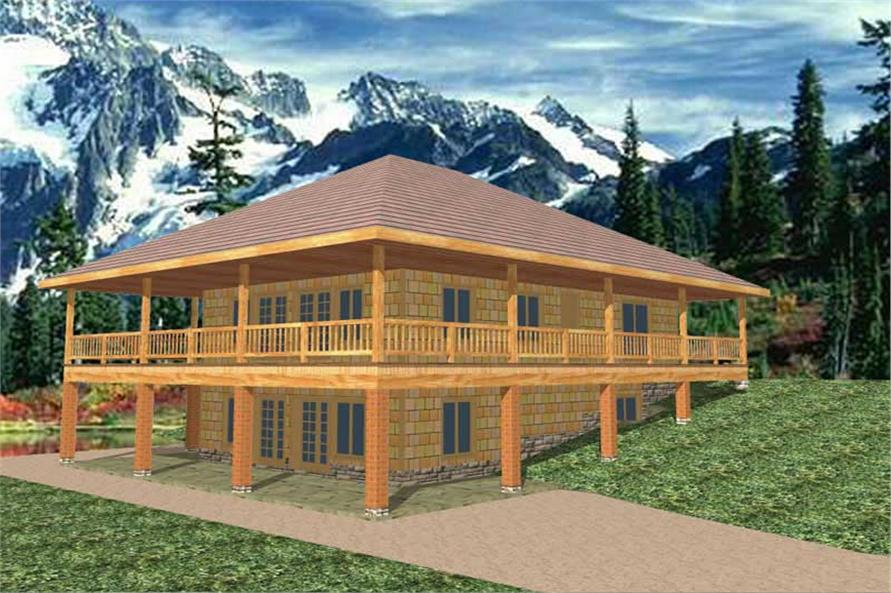 Main image for house plan # 8834
