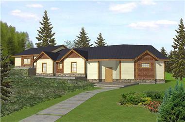 3-Bedroom, 1627 Sq Ft Home Plan - 132-1476 - Main Exterior