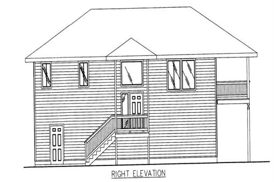 Home Plan Rear Elevation of this 3-Bedroom,1811 Sq Ft Plan -132-1477