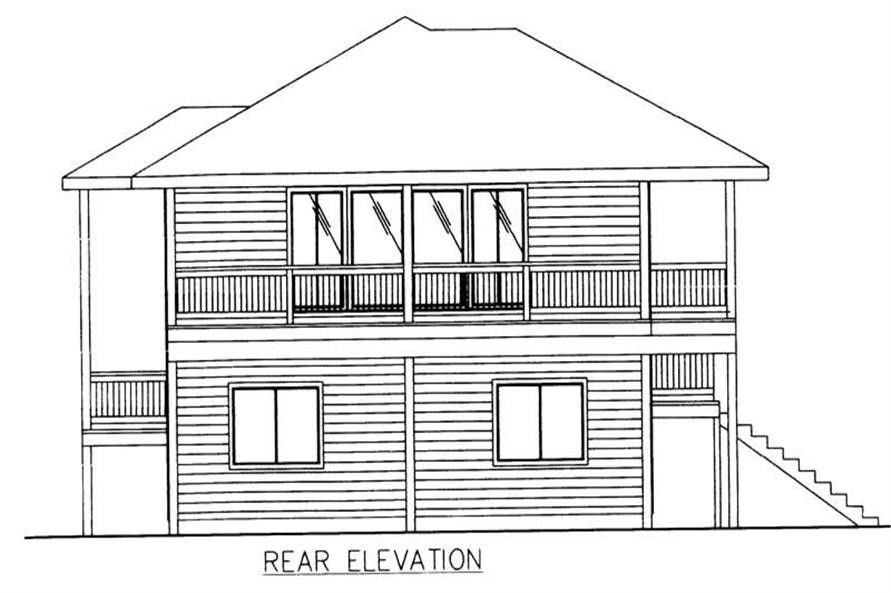 Home Plan Right Elevation of this 3-Bedroom,1811 Sq Ft Plan -132-1477