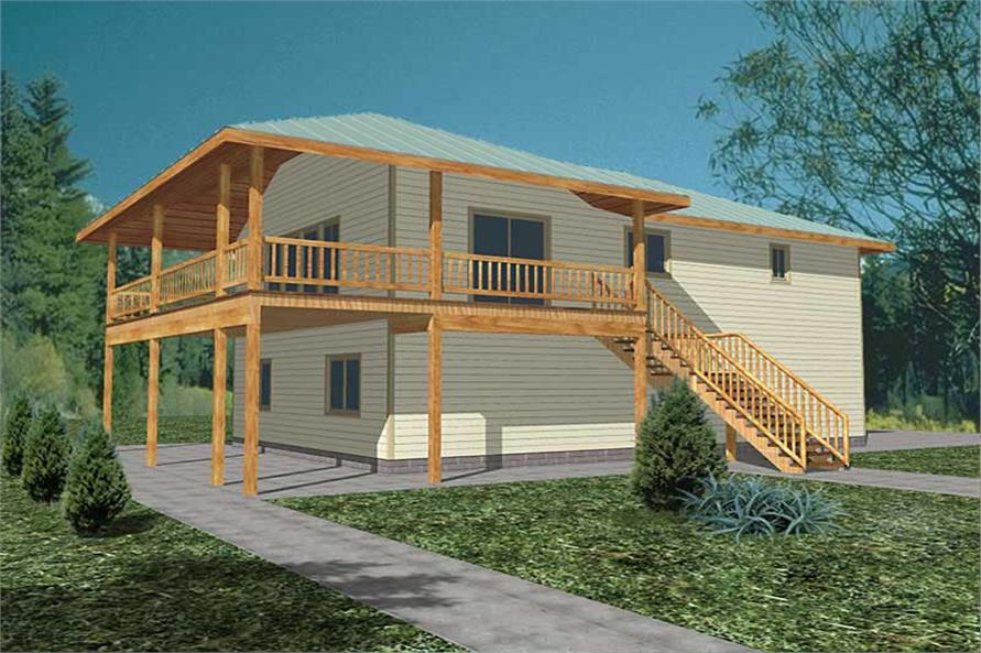 3-Bedroom, 1811 Sq Ft Vacation Homes Home Plan - 132-1477 - Main Exterior