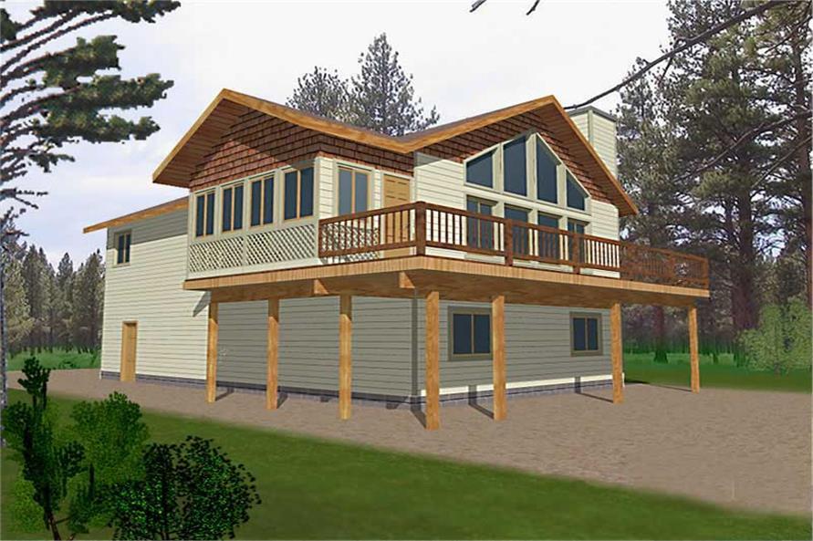 3-Bedroom, 1811 Sq Ft Concrete Block/ ICF Design Home Plan - 132-1481 - Main Exterior