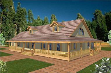 3-Bedroom, 3040 Sq Ft Concrete Block/ ICF Design Home Plan - 132-1482 - Main Exterior