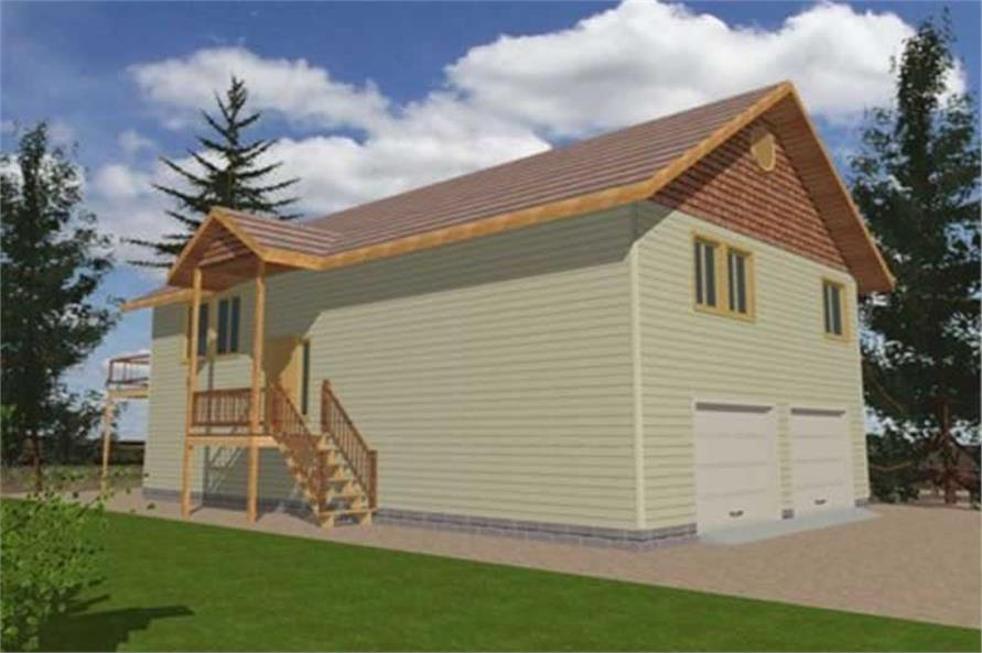 Home Plan Rear Elevation of this 3-Bedroom,2059 Sq Ft Plan -132-1485