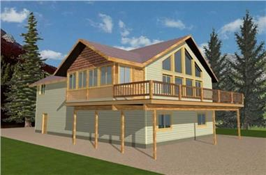 3-Bedroom, 2059 Sq Ft Concrete Block/ ICF Design Home Plan - 132-1485 - Main Exterior